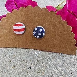 Handmade Patriotic Earrings